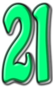 Number 21 - Birthday Party Lifesize Cardboard Cutout / Standee / Standup