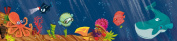 Wandpiraten 200 X 46.5cm Underwaterworld Mural Wallpaper for Kids