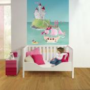 Wandpiraten 139.5 X 200cm Pink Pirates Mural Wallpaper for Kids