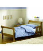 Saplings Poppy Junior / Toddler Bed in Country Pine & Ivory