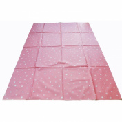 Large Highchair No Mess Splash Mat/Table Protector - Pink With White Polkadots
