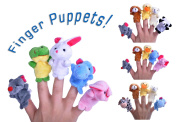 Tiny Finger Puppets Children's Toys Random Set of 5 Animal Puppets