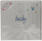 Baby Blue Word Pearl Keepsake Box with Bunny embroidery