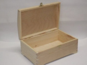 PLAIN WOODEN KEEPSAKE CHEST BOX PYROGRAPHY BOX DECORATE UNPAINTED SOUVENIR DIY