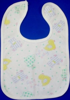BabywearUK Duck Plastic Backed Bib - British Made