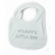 Baby Boy - Mummys Little Boy Design Embroidered Bib with Velcro Strap