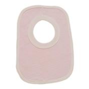 BabywearUK Pink stripe Pop over Bib - British Made