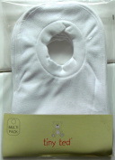 7 Pack Popover Baby Bib Bibs White Soft Towelling Unisex Multi Pack