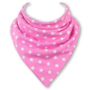 Baby Bandana Bib in PINK STARS by Babble Bib