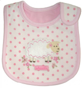 Baby Bib, Adorable, Little Lamb, Cotton, FULLY LINED INNER WATERPROOF LAYER