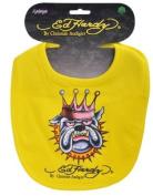 5038278988084 Ed Hardy Bulldog Bib - Yellow
