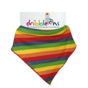 Dribble Ons Designer Bib - New 2012 Colour - Rainbow Stripes