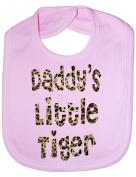 Daddy's Little Tiger In Animal Print - Funny Baby/Toddler/Newborn Bib -Gift