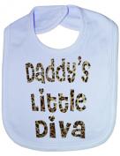 Daddy's Little Diva In Animal Print - Funny Baby/Toddler/Newborn Bib -Gift