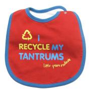 Little Green Radicals Organic Fairtrade Cotton I Recycle My Tantrums Bib
