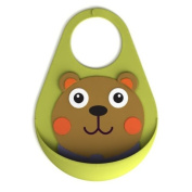 Little Helper Oops Crumb Catcher Bib with Adorable 3D Bear Appliqué