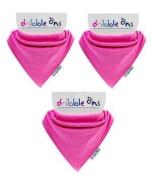 Dribble-Ons Bandana Bib - Fuchsia Pink - ** 3 PACK *.