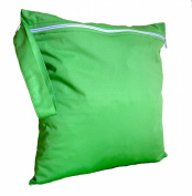 FAB4BABYSTARS, Lime Green, Wet Bag, Nappy Bag, Holiday Bag, Toiletry Bag, Laundry Bag, Storage Bag for Toys, made with waterproof material, stretchy with Zip, Handle for Hanging