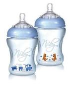 Nuby Natural Touch NT68007 Softflex Polypropylene Feeding Bottle Blue 240 ml