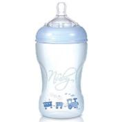 Nuby Natural Touch NT68009 SoftFlex Polypropylene Feeding Bottle 300 ml Blue