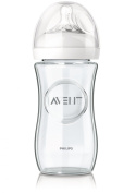 Avent Natural Baby Bottle Pure and Resistant Glass 240ml 1 Month +
