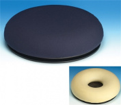 Concept4u Pressure Relief Turning Cushion + FREE Cover (Dunlopillo Surgical Ring Cushion with Turning Aid / Donut Cushion / Pillow)