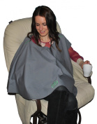 Natural Baby Poncho - 100% Organic Cotton Breastfeeding Cover - Cosmopolitan Grey