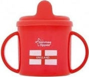 TOMMEE TIPPEE WORLD CUP FOOTBALL TWIN HANDLED CUP BPA FREE 4M+