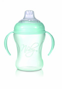 Nuby Natural Touch NT69002 Training Cup Polypropylene 240 ml for Ages 6 Months and Over with Handles and Anti-Leak Silicone Spout Green