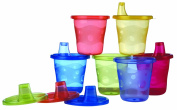 Nuby ID91121 Training Cup Set of 6 with Hard Spouts 180 ml Multicoloured