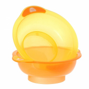 Vital Innovations 492042 Unbelievabowl 2 Dishes without Suction Cups Orange