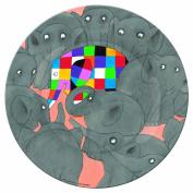 Petit Jour EL921D Baby Plate Elmer the Patchwork Elephant