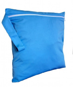FAB4BABYSTARS, Sky Blue, Wet Bag, Nappy Bag, Holiday Bag, Toiletry Bag, Laundry Bag, Storage Bag for Toys, Stretchy, Waterproof Material with Zip, Handle for Hanging up