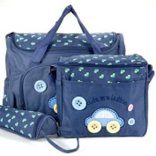 4 PCS Brand New Baby Diaper Nappy Changing Bag DARK BLUE