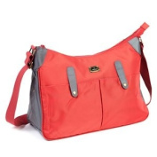 Caboodle Everyday Bag, Red with Grey