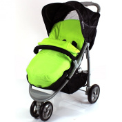 Deluxe Universal Footmuff to fit Mamas & Papas Luna, Sola - Lime