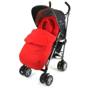 Silver Cross POP Footmuff - Liner & Head-support With Pouches Highly Padded