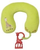 Sophie la girafe Travel Pillow and Vanilla Teething Ring Set
