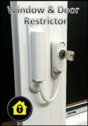 UPVC Cable Window Restrictor. Child Safety Lock. Suitable For Windows & Doors - White