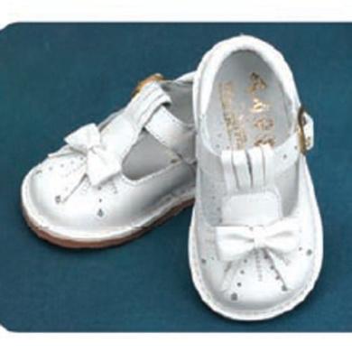 Angels Garment White Bow T Strap Easter Baby Toddler Girl Shoe 3-9.5