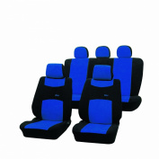 Cartrend 79-1120-01 Colori Complete Seat Cover Set with Docu Seams Blue