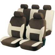 WALSER AM12416 TOP Dubai Universal Car Seat Covers Beige/ Brown