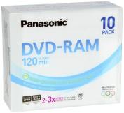 Panasonic DVD-RAM 4.7GB 3X 10 Pack
