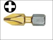 Witte Phillips No.2 Titanium Screwdriver Bits (Card 2) 25 mm
