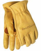 Town & Country Superior Leather Lined Gardening Gloves for Men - Medium