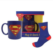 Superman Classic Logo Mug And Sock Gift Set
