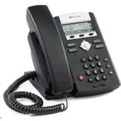 Polycom SoundPoint IP 331 2-line SIP desktop phone with integrated 2-port 10/100 Ethernet switch and