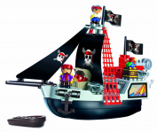Abrick Pirate Ship Playset