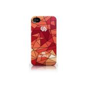 Snekz Broken Glass Design iPhone 44s Hard Case Red