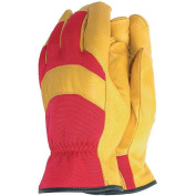 Deluxe Soft Leather Classic Gardening Gloves - Large